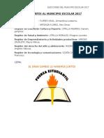Plan de Trabajo Del Municipio Escolar 2017