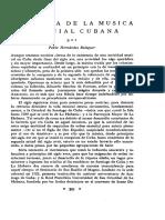 Hernández Balaguer, Pablo - Panorama de la música colonial cubana