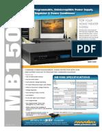 Panamax MB1500 Ups Spec Sheet