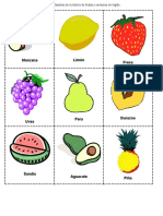 Loteria de Frutas y Verduras Español