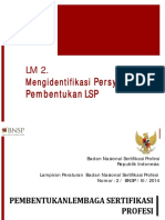 Persyaratan Pembentukan LSP