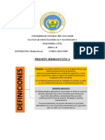 Fundamento Conceptual HIDROSTATICA