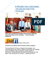 New Finance Minister has a Herculean task ahead he will win only if he moves with foresight.docx