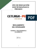 REGLAMNTO STUDIANT 2016