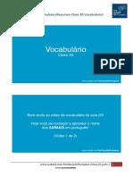 Resumen Clase 20 Vocabulario 1 - Tus Clases de Portugues