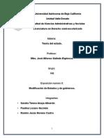 Modificación de Estados y de Gobiernos
