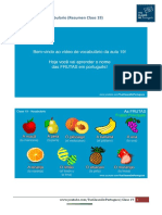 Resumen Clase 19 Vocabulario - Tus Clases de Portugues
