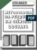 """""""Metodologia da Pesquisa em Ciências Sociais"""" de Fred N. Kerlinger"""
