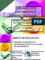 Ley de Procedimientos Administrativos Calidad