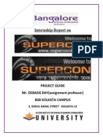 Internship Project on Supercon Info Services Pvt Ltd