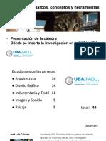 La investigacion en la FADU-UBA