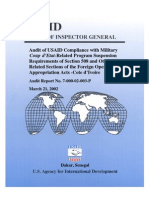 Compliance with Military Coup d' etat  Section 508 Foreign Operations Appropriations Act
