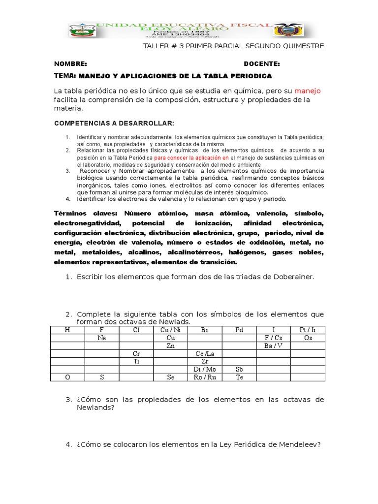 Taller quimica tabla periodica urtaz Images