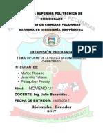 Informe de Extension Pecuaria
