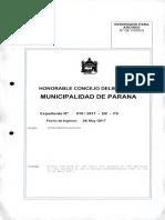 Boleto de transporte urbano de pasajeros-Paraná