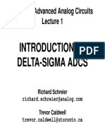 INTRODUCTION TO DELTA-SIGMA ADCS