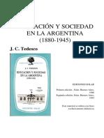 Tedesco, J.C. (1986) Educación y Sociedad en La Argentina (Directivismo)