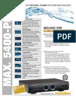 Panamax M5400PM Spec Sheet