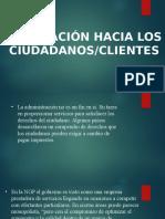 ORIENTACIÓN HACIA LOS   CIUDADANOS/CLIENTES