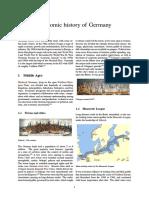 Economic History of Germany