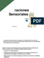 alteraciones sensoriales geriatria