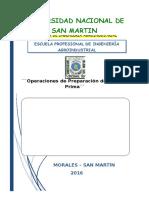 Practica N°02 - Operaciones de Preparacion de Materia Prima