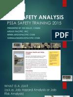 Job Safety Analysis 1hr PSSA 9 2015