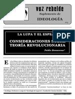Consideraciones Sobre La Teoría Revolucionaria. Bonavena, P.