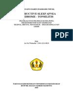 Status OSAS Tonsilitis.doc