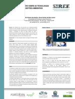Olhares e Reflexões Sobre as Tecnologias Verde e as Gestões Ambientais - SIREE (Poster)