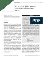 British Journal of Biomedical Science Allicin vs MRSA