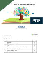 Handbook to Investment Declaration