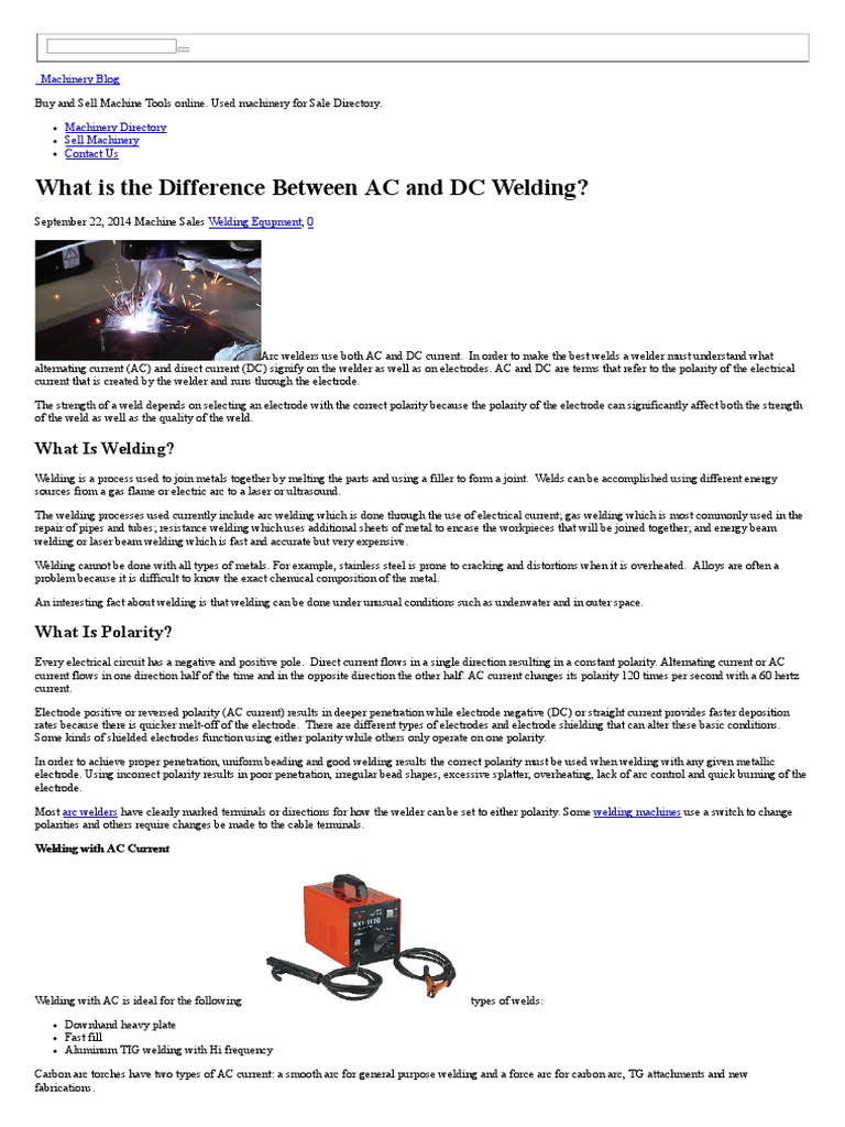 What is the Difference Between AC and DC Welding | Welding