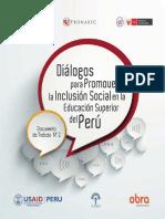 Diálogos para Promover la Inclusión Social en la Educación Superior del Perú