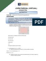 Evaluación Parcial de Matemática Final