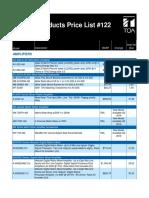 Toa-msrp Price List