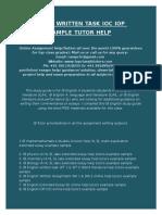 Ib English Written Task Ioc Iop Example Sample Tutor Help