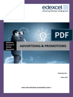 Advertising and Promotions