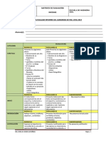 Matrices de Evaluación Informe