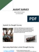 Barge / Tongkang Draught Survey by Juniawan Noor