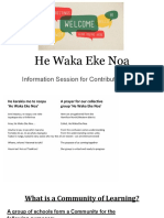 he waka eke noa - ece information evening