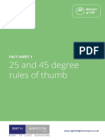 Fact Sheet 1 25 and 45 Degree Rules of Thumb