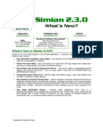 Simian 2.3.0 Whats New