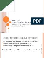 Lect 10 - Configuring Web Server (IIS)