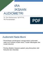 Tatacara Pemeriksaan Audiometri