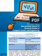 International Journal of Research Studies in Computer Science and Engineering - ARC Journals