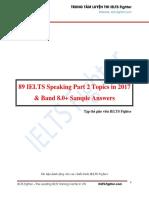 89 IELTS Speaking Part 2 Topics in 2017 - IELTS Fighter