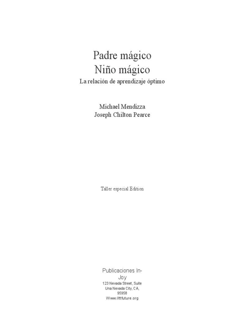 J. C. Pierce - Padre Magico, Niño Mágico