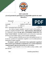 Acordul Parintilor Pentru Minori-BELT LEAGUE Vipguard 2017 Tecuci