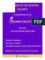 Evolution of the Modern Trumpet - A Presentation of the Stearns Collection by Eric Hartz